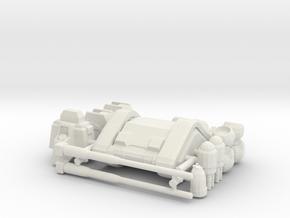 RX-75 Mass Production Guntank in White Natural Versatile Plastic: 1:400