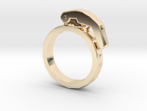 The Gringade - Grenade Ring (Size 7) in 14k Gold Plated Brass: 7 / 54
