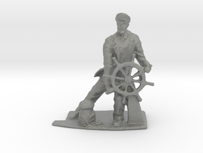 HO Scale Captain at Sea in Gray Professional Plastic