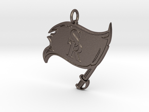 Raiders Pendant in Polished Bronzed-Silver Steel