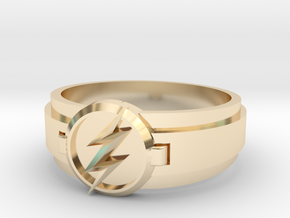Flash Ring Size 8 in 14k Gold Plated Brass