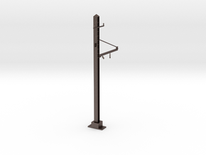 1 track pole in Polished Bronzed-Silver Steel