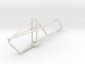 PRR 3 phase bracket CURVE2 in White Natural Versatile Plastic