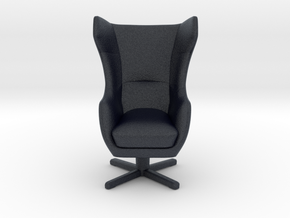 Miniature Zing Armchair - Gala Collection in Black PA12: 1:12