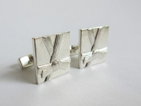 Martial Art Cufflinks in Natural Silver