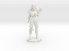 Dark Queen BUSTY VARIANT Mini - 40mm in White Premium Versatile Plastic
