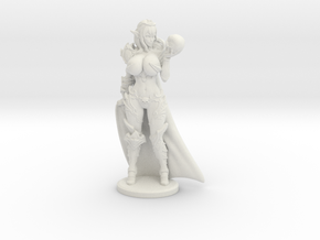 Dark Queen BUSTY VARIANT w Cape Mini - 40mm in White Premium Versatile Plastic