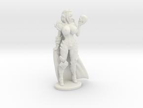 Dark Queen TOPLESS VARIANT w Cape Mini - 40mm in White Natural Versatile Plastic