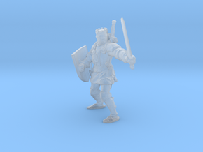 1-87 medieval knight in Smooth Fine Detail Plastic