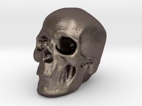 Skull 3DXS in Polished Bronzed-Silver Steel