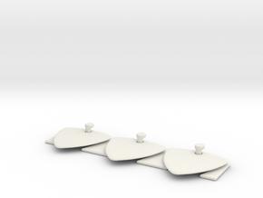 guitar picks 1.4mm engrave x3 in White Natural Versatile Plastic