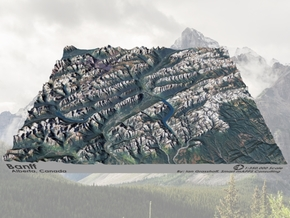 "Banff Region, Alberta Canada: 8""x10"" in Matte Full Color Sandstone"