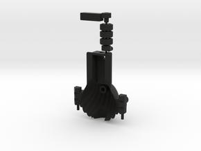 Clam Dipler Black Parts in Black Natural Versatile Plastic