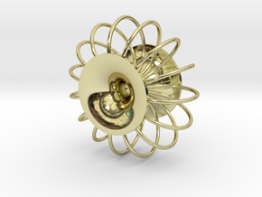 Torus pendant in 18k Gold Plated Brass