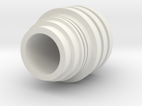 Code Cylinder for Wood dowel in White Natural Versatile Plastic