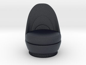 Miniature Grimilde Armchair  in Black PA12: 1:12