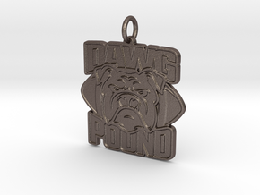 Dawg Pound Pendant in Polished Bronzed-Silver Steel