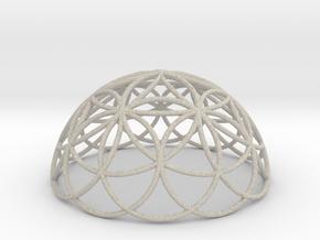 3D 100mm Half Orb of Life (3D Flower of Life)  in Natural Sandstone