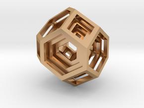 Encompassing Gem - Pendant in Polished Bronze (Interlocking Parts)
