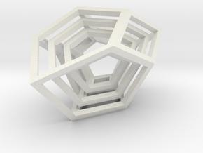 Encompassing Shard - Pendant in White Natural Versatile Plastic