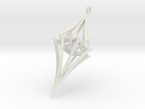 Colliding Stars - Pendant in White Natural Versatile Plastic