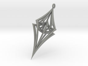 Colliding Stars - Pendant in Gray PA12