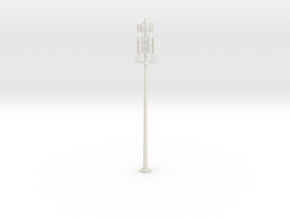 Cell Tower HO 87:1 Scale in White Natural Versatile Plastic