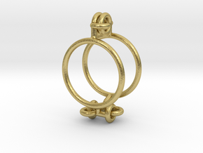 Marble Cage in Natural Brass (Interlocking Parts)