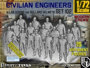 1/72 Engineers Set102 in Smooth Fine Detail Plastic