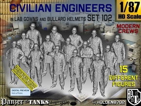 1/87 Engineers Set102 in Smooth Fine Detail Plastic