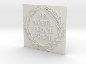 The 1985 Peace Nobel Prize in White Natural Versatile Plastic: Extra Small