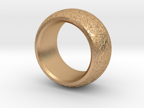 mojomojo - Flower Vine modern ring design 1A in Natural Bronze