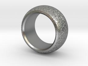 mojomojo - Flower Vine modern ring design 1A in Natural Silver