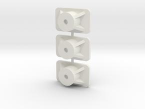 Tamiya Ascona front mounts A13 in White Natural Versatile Plastic