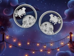 3 Inch Cow Over The Moon Tunnels in White Processed Versatile Plastic