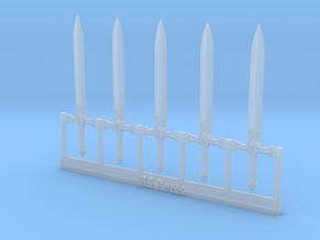 Sword BT 5 pcs. in Smoothest Fine Detail Plastic: 28mm