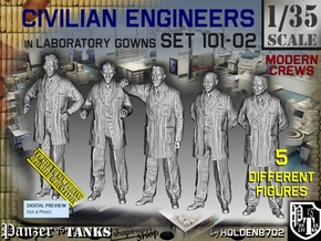 1/35 Engineers Set101-02 in Smooth Fine Detail Plastic