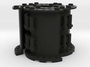 Sewer Pipe Straight Set in Black Natural Versatile Plastic