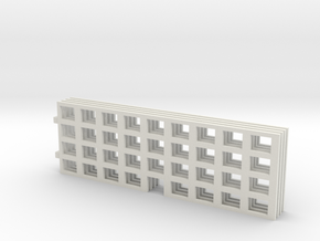 Miniature Building 02 in White Natural Versatile Plastic: 1:450 - T