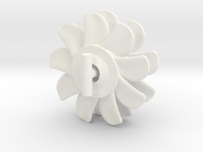 1/144 Nine Blades Sub Prop x2 bigger shaft in White Processed Versatile Plastic