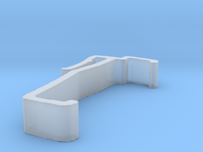 Blind Valance Clip 00141 in Smooth Fine Detail Plastic