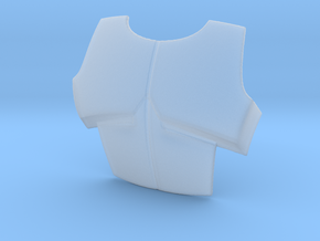 ARC Chest plate 6 inches  in Smooth Fine Detail Plastic