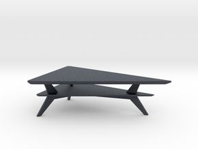 Miniature OM Coffee Table - QBCraft in Black Professional Plastic: 1:12