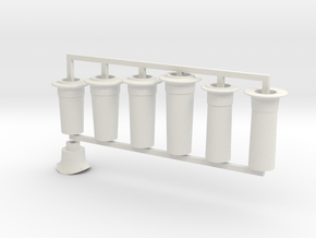 G1 - 9-5mm - FR E1 - J1 - D1 - Full Chimney Pack in White Natural Versatile Plastic