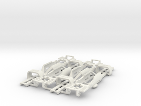 SL2-MK4 HO Slot Car Chassis 4-PACK in White Natural Versatile Plastic