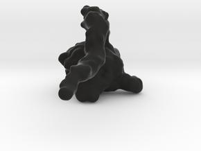 mini Smoke Monster solid in Black Natural Versatile Plastic: Medium