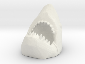 HO Scale Shark Attack in White Natural Versatile Plastic