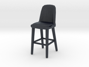 Miniature Afra Meka One Barstool - Afra Furniture in Black Professional Plastic: 1:12