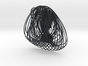 Enneper Curve Art + Nefertiti (002c) in Black Professional Plastic