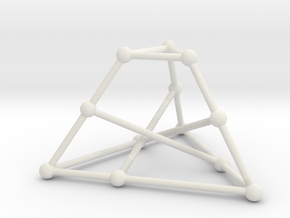 Tietze's graph in White Natural Versatile Plastic